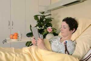 Patients undergoing OncoPherese can read, eat, sleep or visit.